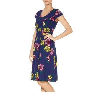 Darling Blue Floral Tea Dress